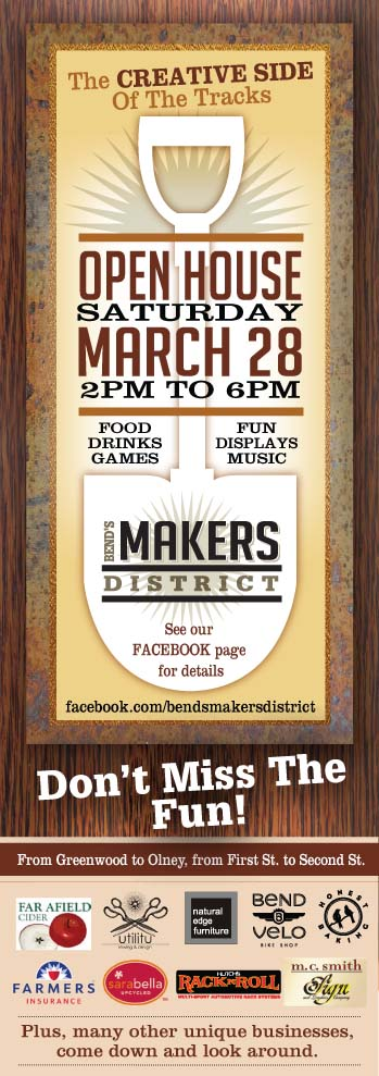 Bends Makers District Makers March Event Flyer