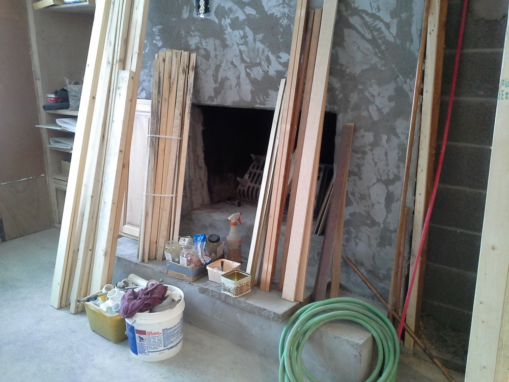 Out with the fireplace facade!