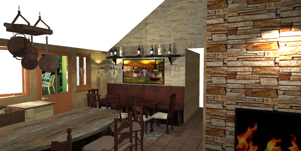 creation of a tuscan country kitchen