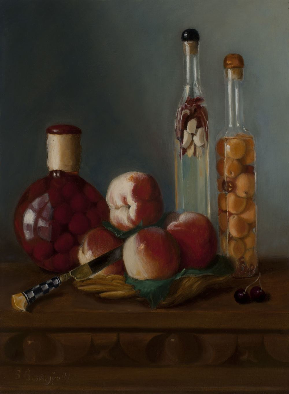 BOTTLED FRUIT, 12 X 16