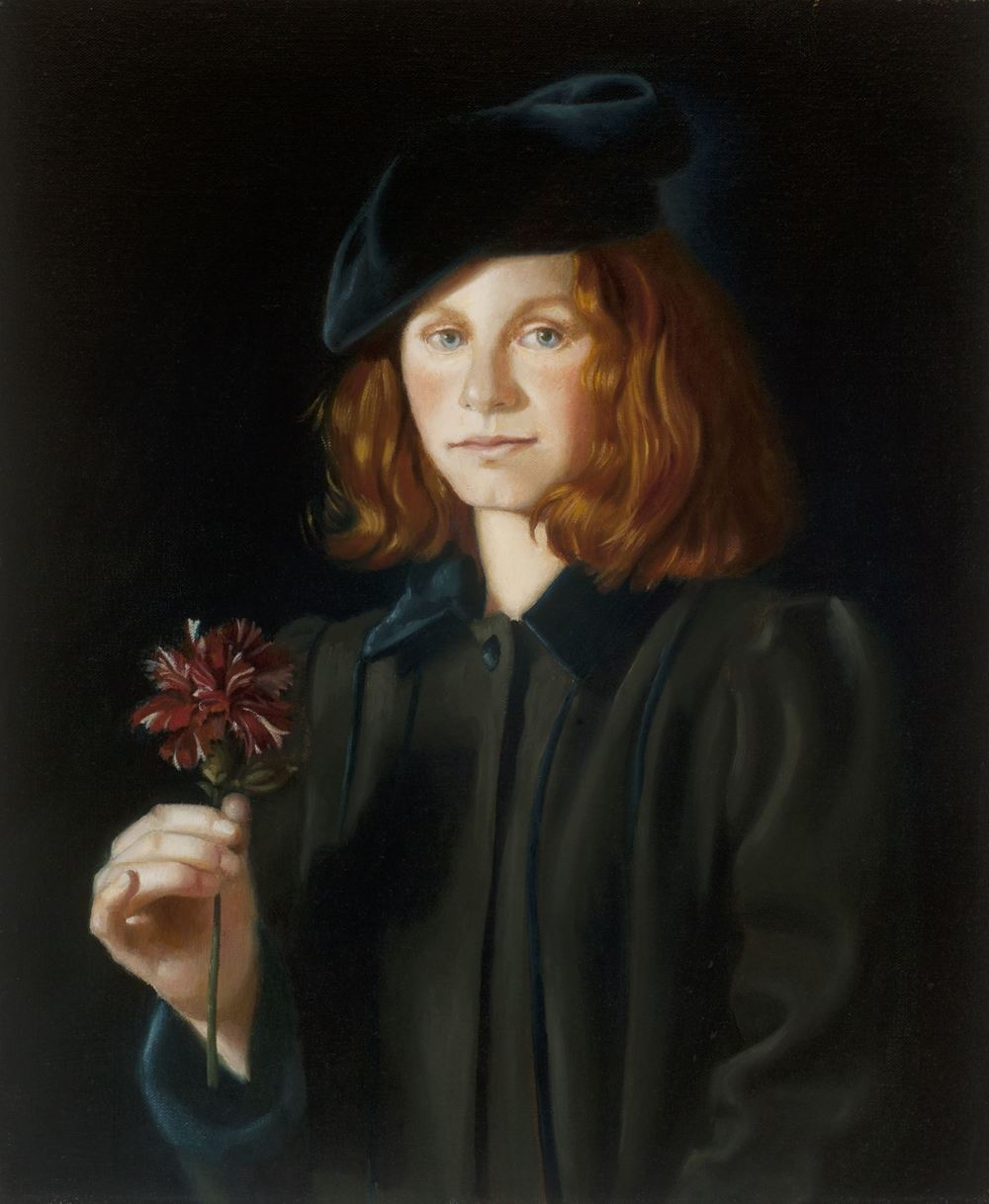 GIRL WITH CARNATION, 20 X 24