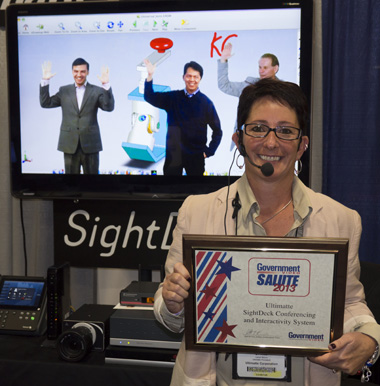 lynne from ultimatte pictured with the award-winning sightdeck solution