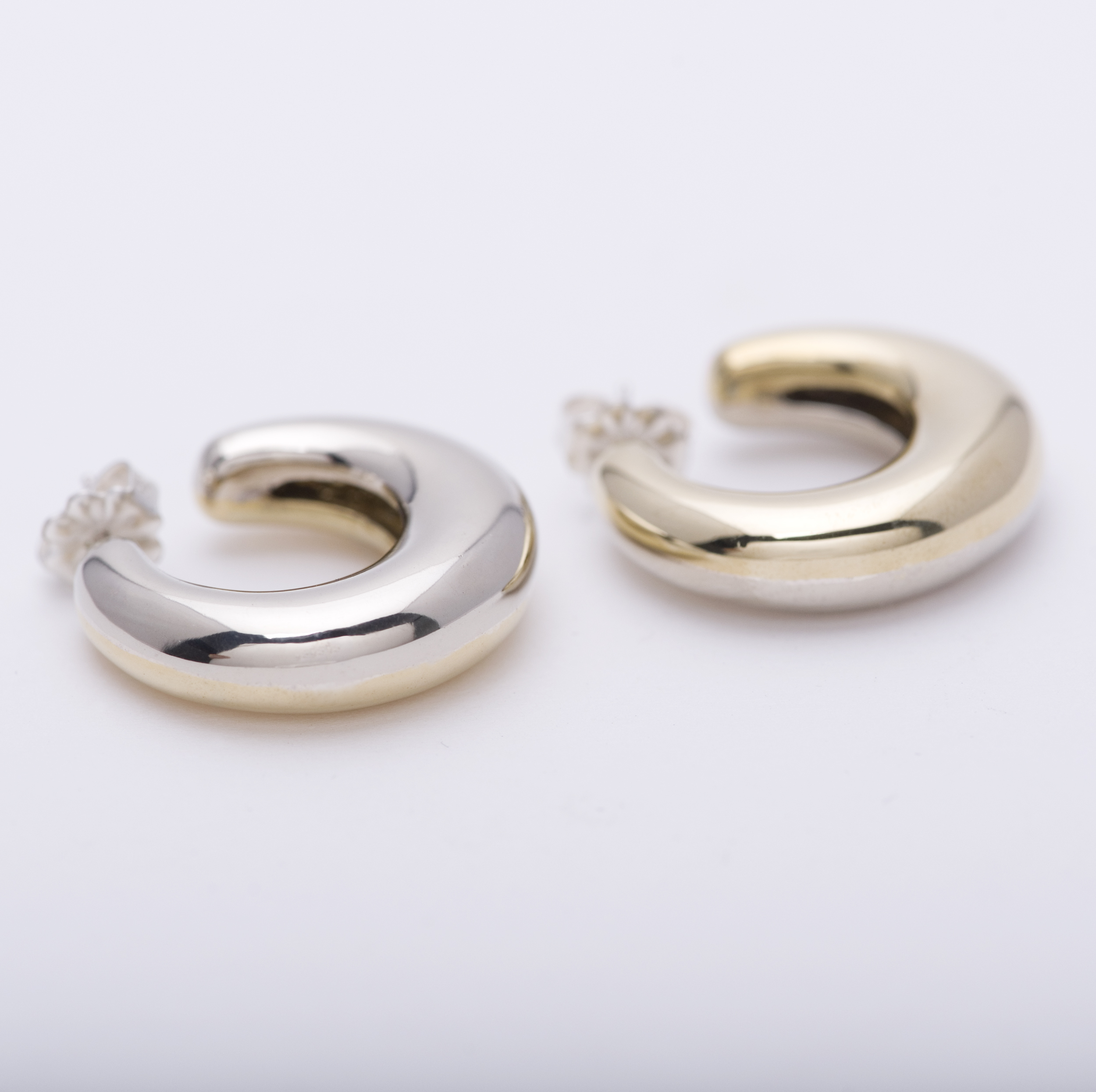 d0271bd7e Two Tone Bubble Hoops — Leigh Miller Jewelry