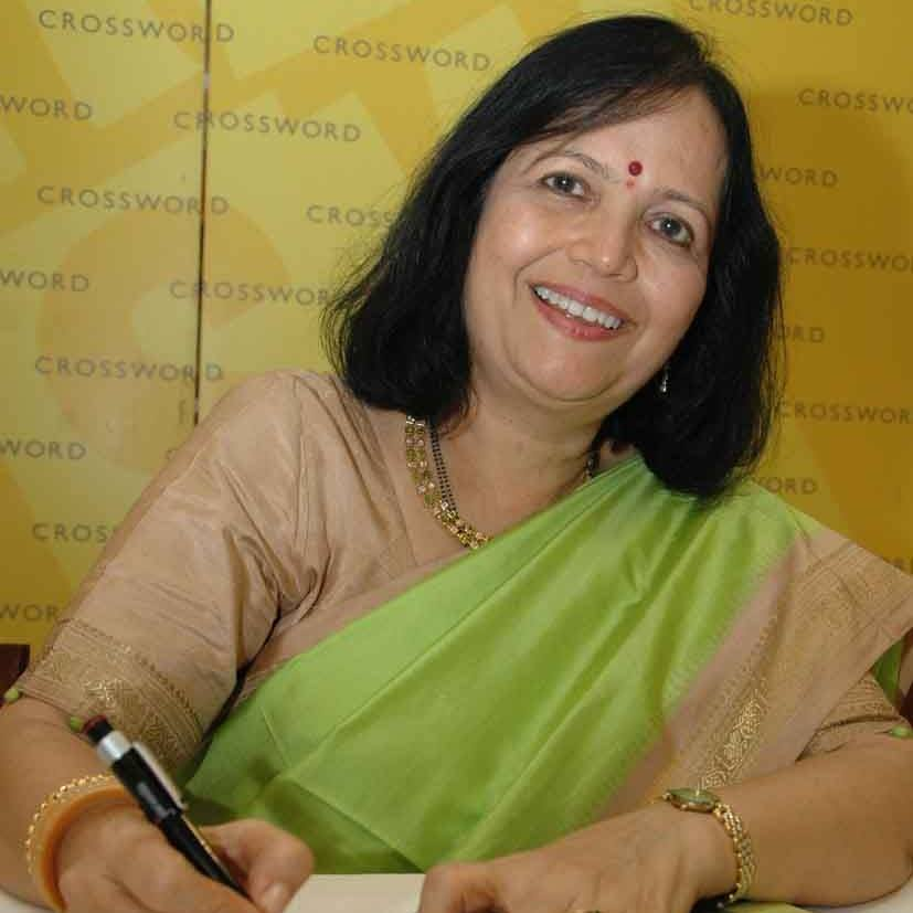 Saroj Joshi at the Unique Book of Vegetarian Cooking book launch.