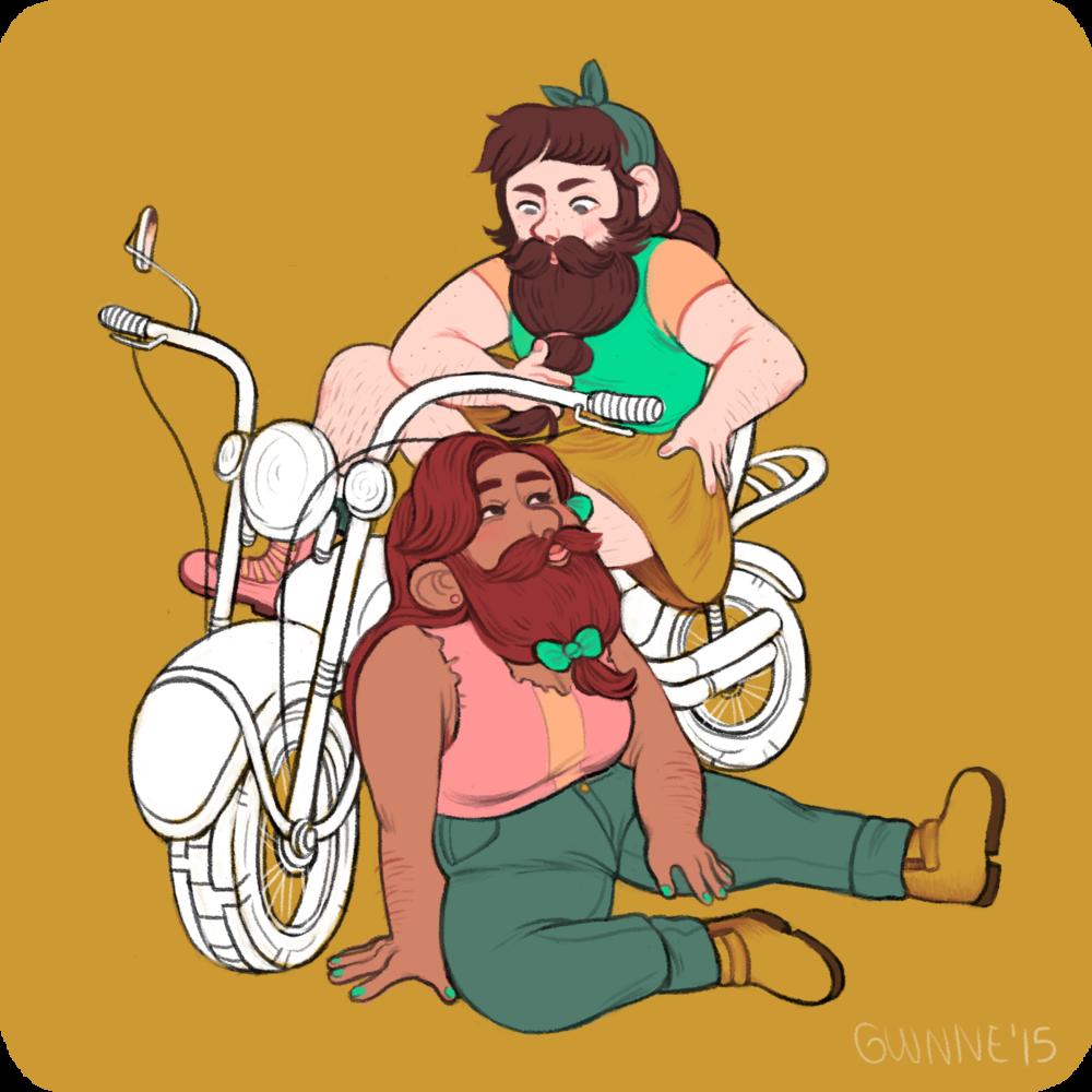 Biker Dwarf Babes