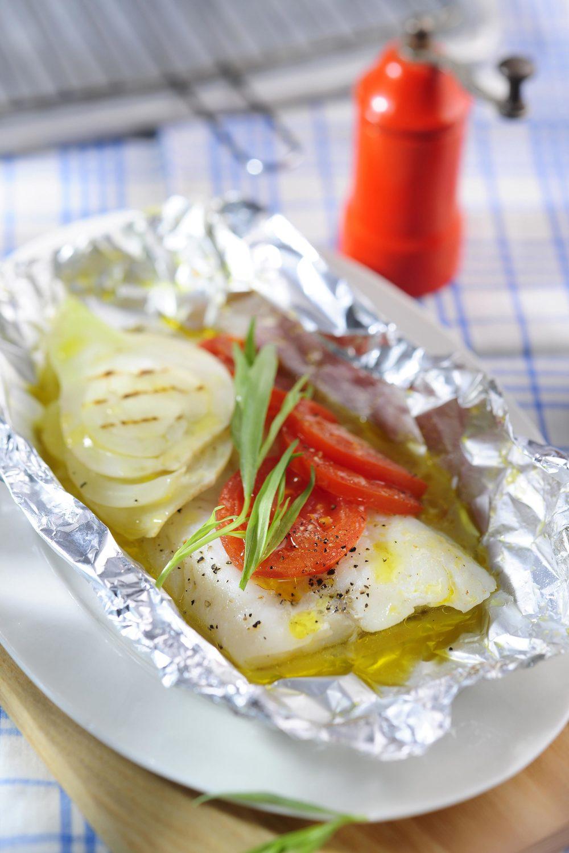 白身魚の黄金ホイル焼き