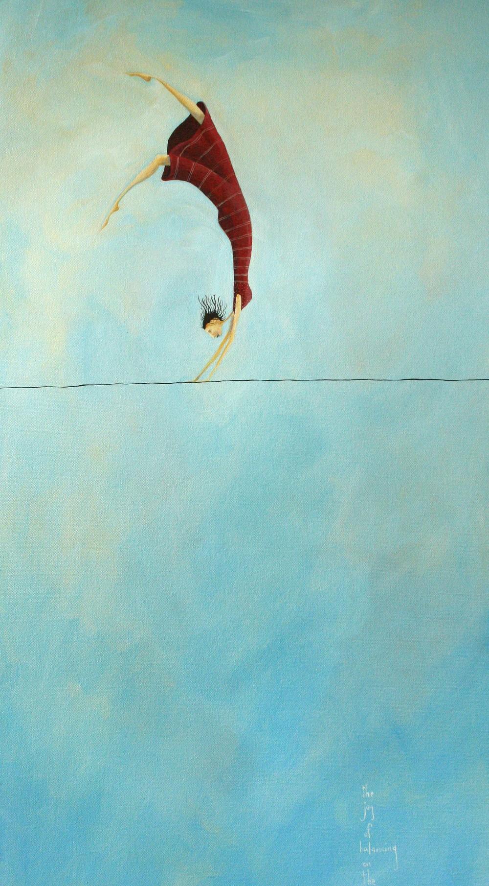 the joy of balancing on the edge of life