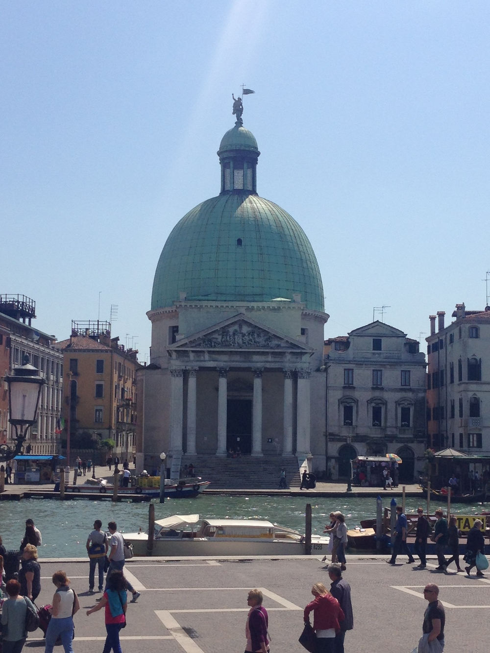 the view outside the train station, venice, italy