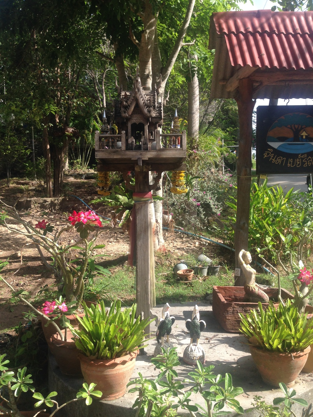 steet shrines, koh phangan, thailand