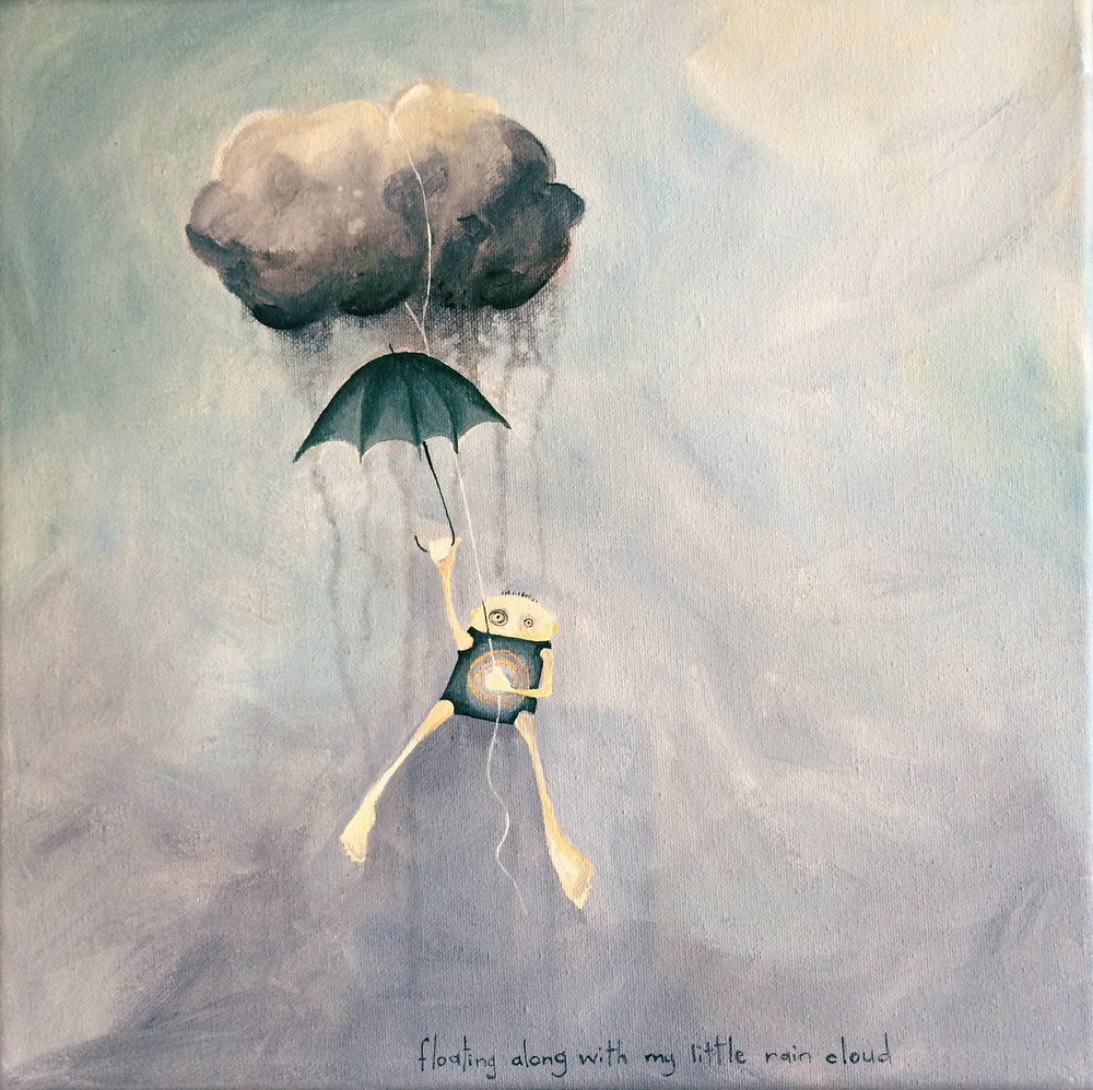 floating along with my rain cloud