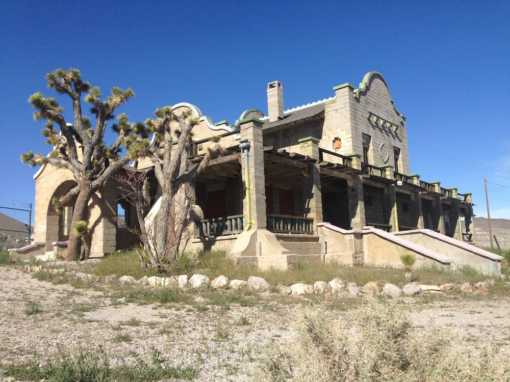 The Train depot became the Rhyolite Ghost Casino in 1937