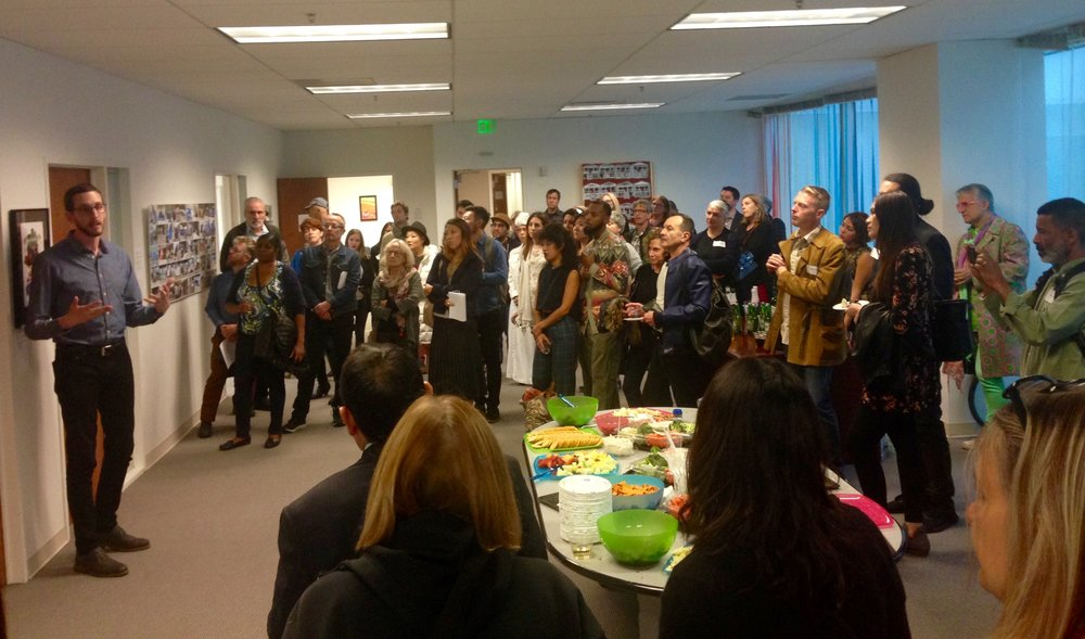 Opening reception at California's State Senator Scott Wiener offices in the State Building