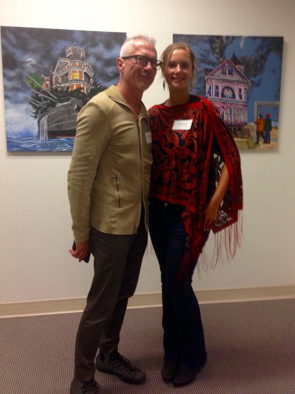 Curator Joseph Abbati and me