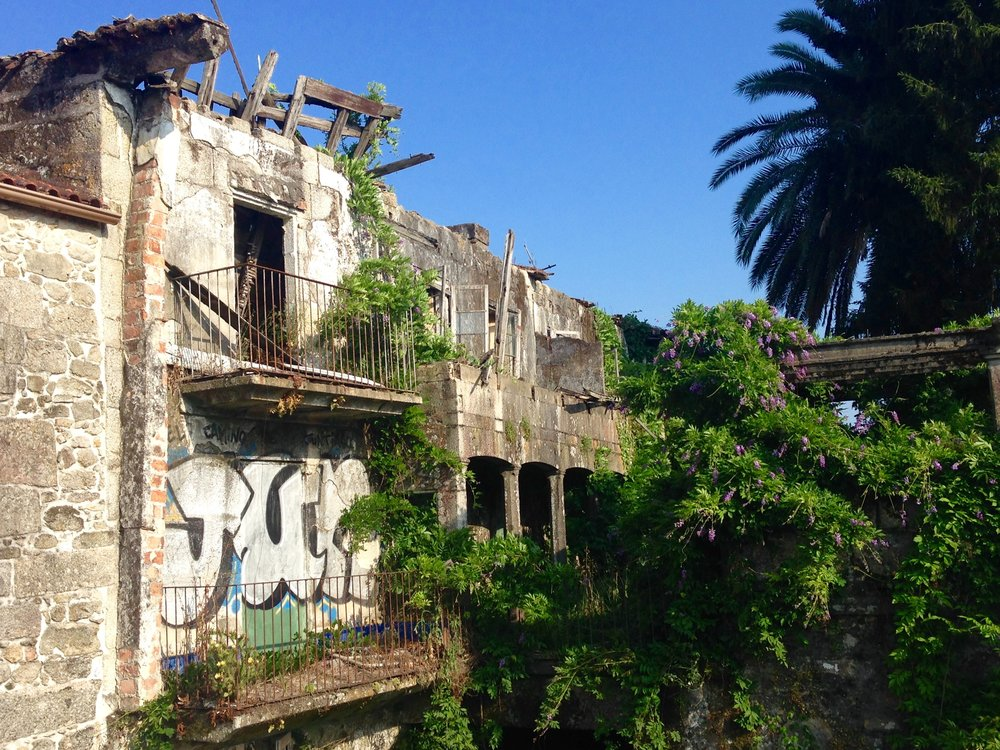 Abandoned place in the city of Tui, autonomous community of Galicia, in Spain