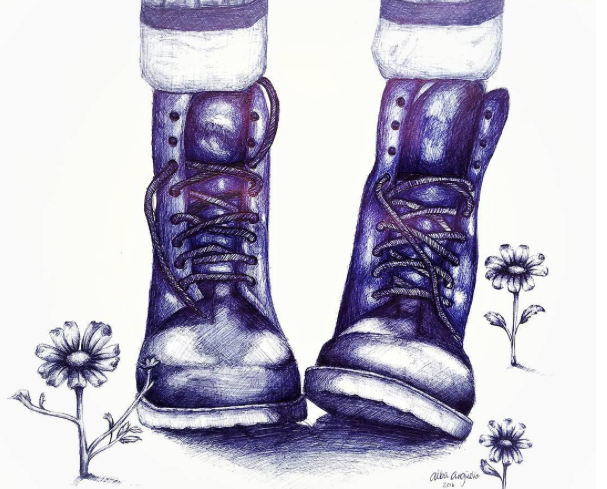 Delphian artwork Blue Boots
