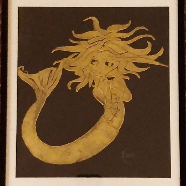 Beautiful artwork of a mermaid!  #delphianschool #delphianarts #studentart #artwork