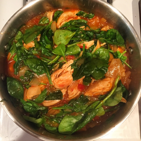 Spinach and chicken, it's all so simple!