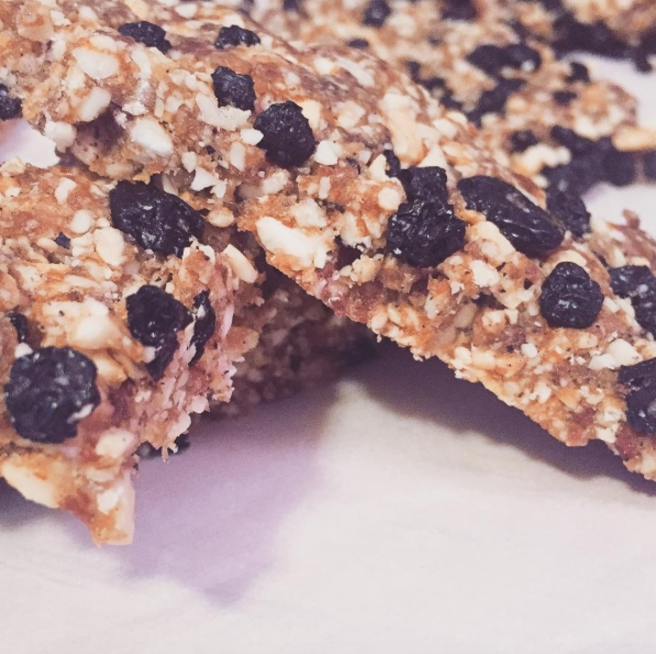 This Blueberry Lemon Lärabar was made by Crossfit Queens athlete  Sarah Thomas . The recipe can be found  here .