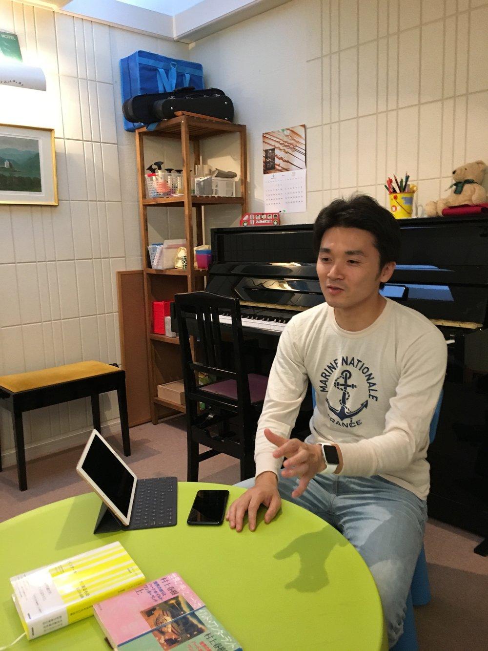 今回の収録は西麻布のピアノ教室でした。