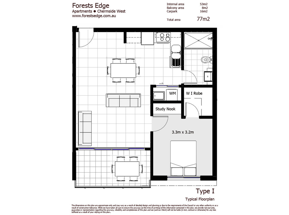 Type I Floor Plan - One Bed Unit copy.jpg