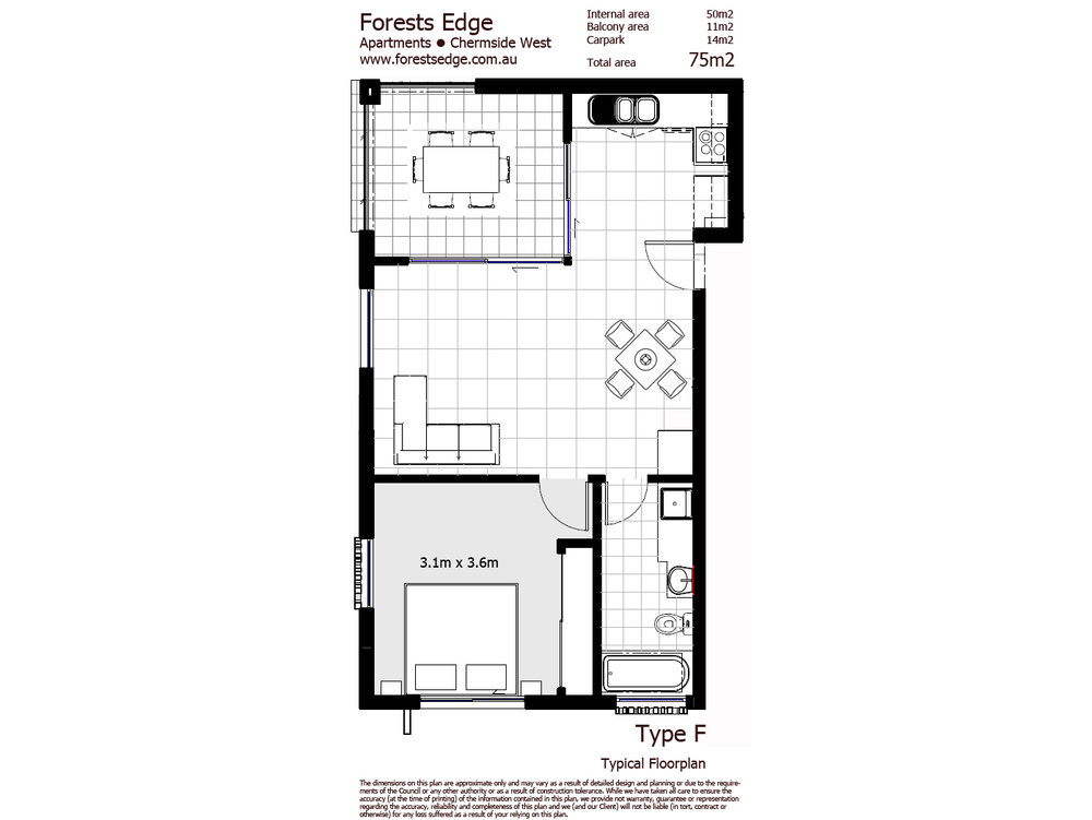 Type F Floorplan - One Bedroom Unit copy.jpg