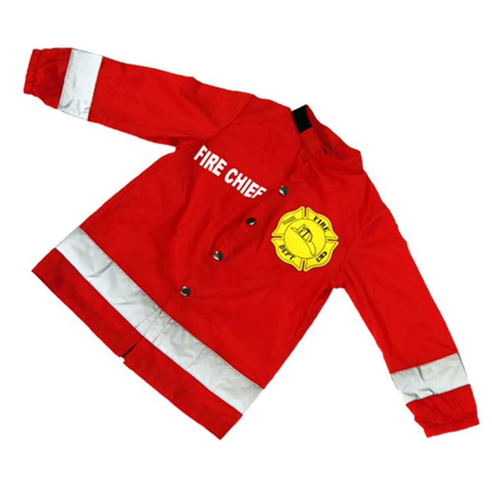 SALE 50% OFF    $9.99 - Includes a FREE embossed Kid Cut Specialist certificate.  Familiar fire jacket designAdjustable patented collarOne size fits allRecommended for ages 1 to 5