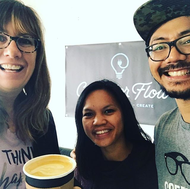 Meet our new neighbors Christine & Nori, owners of @corridor_flow These 2 ☕️♥️ souls will be opening for biz in the next few monthsright next door to @GGIW yoga . And wow, this turmeric latte....heaven 😇!! Please follow their page and be on the look out for some sampling dates 😉. #welcometotheneighborhood #coffee #latte #tumericlatte #coffeelover #coffeeandyoga #yogaandcoffee #savasana #butfirstyoga #butfirstcoffee #yogi #yogini