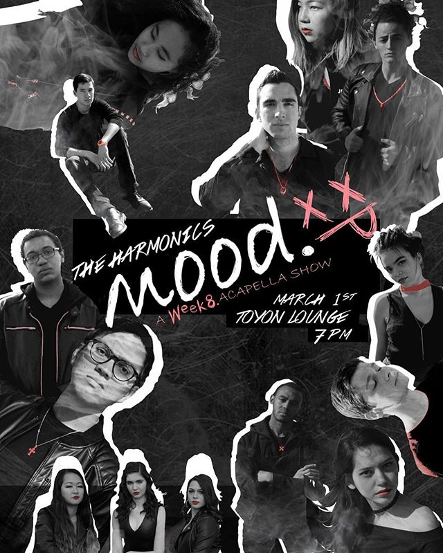 "We are super hyped for our first show of the year, ""Mood. A Week 8 Acappella Show""! Come relate to week 8 struggles and enjoy some thrilling vocal rock and delicious cookies this Friday, March 1st, at 7pm in Toyon Hall!  Link in bio  #acappella #rock #alternative #stanford #mood"