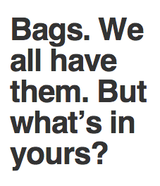 Easy questions about your bag. Click here to get to a beautiful SurveyMonkey survey.