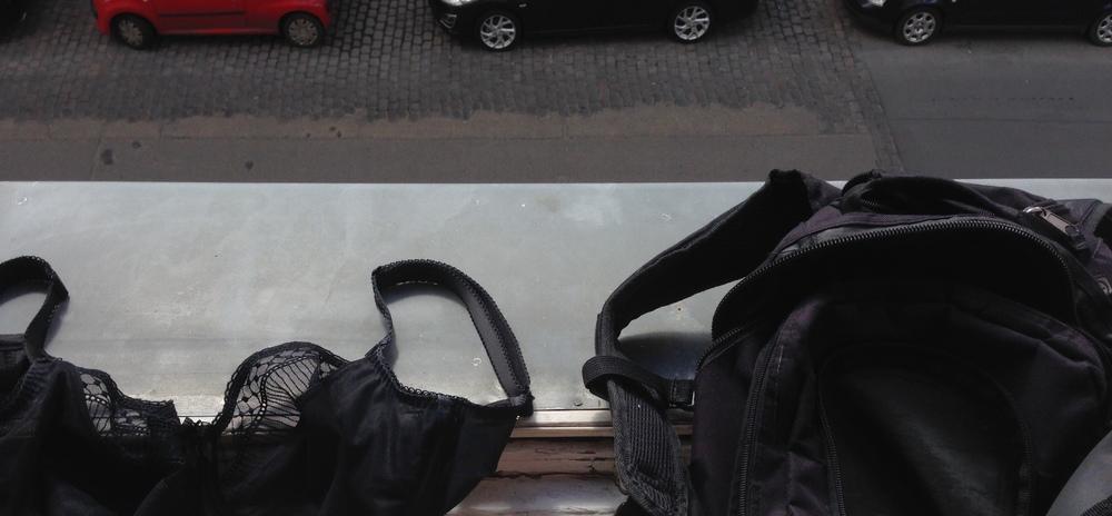 Bra and rucksack