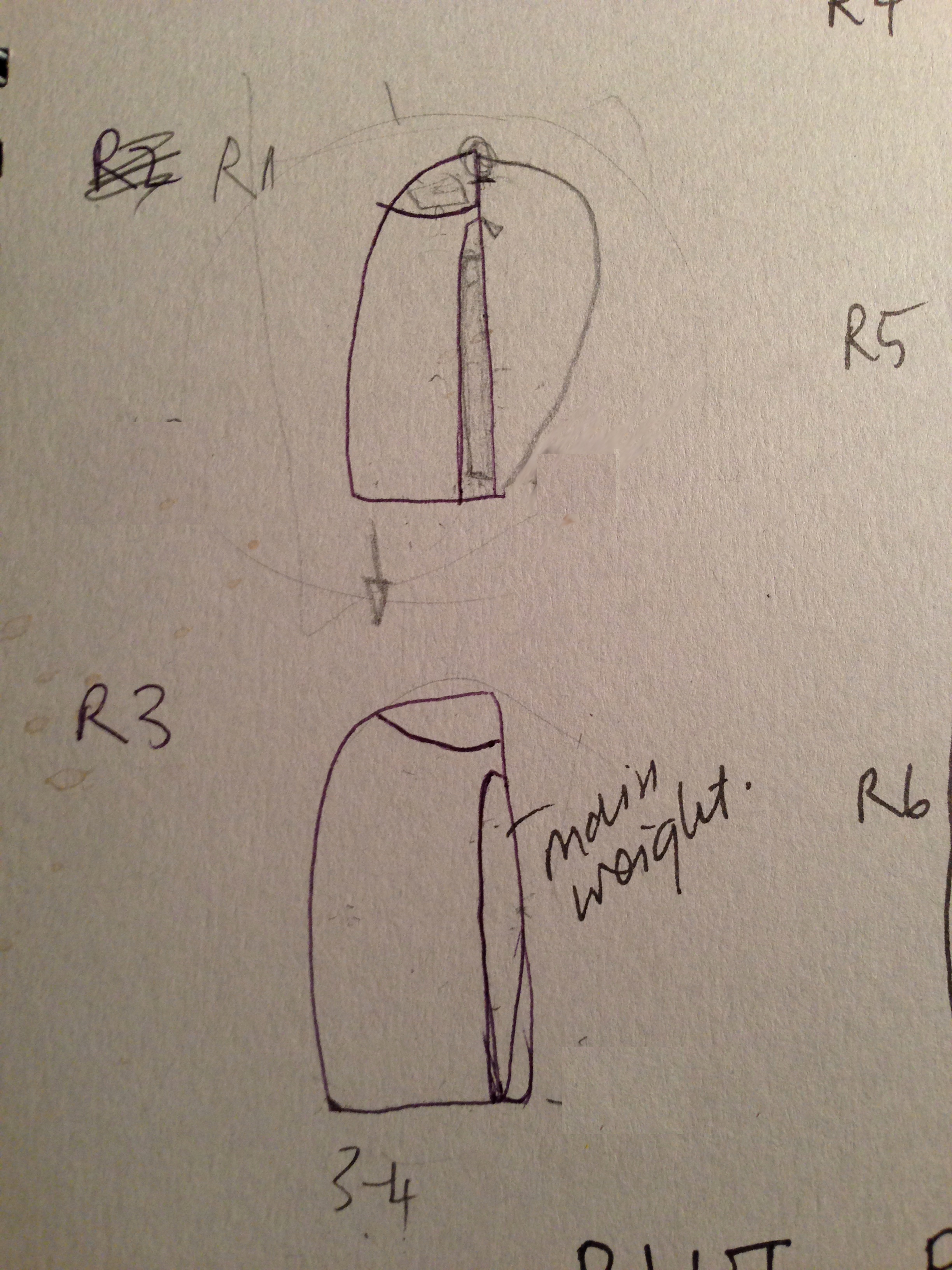 RiutBag early sketches c. 2012