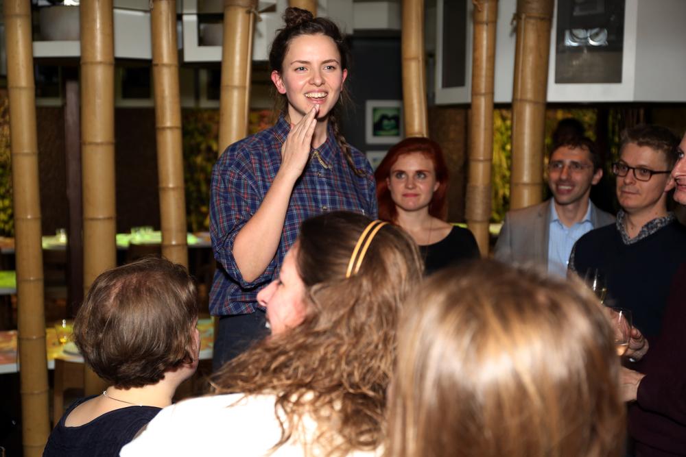 Sarah Giblin's speech RiutBag backers' party  #ipredictariut