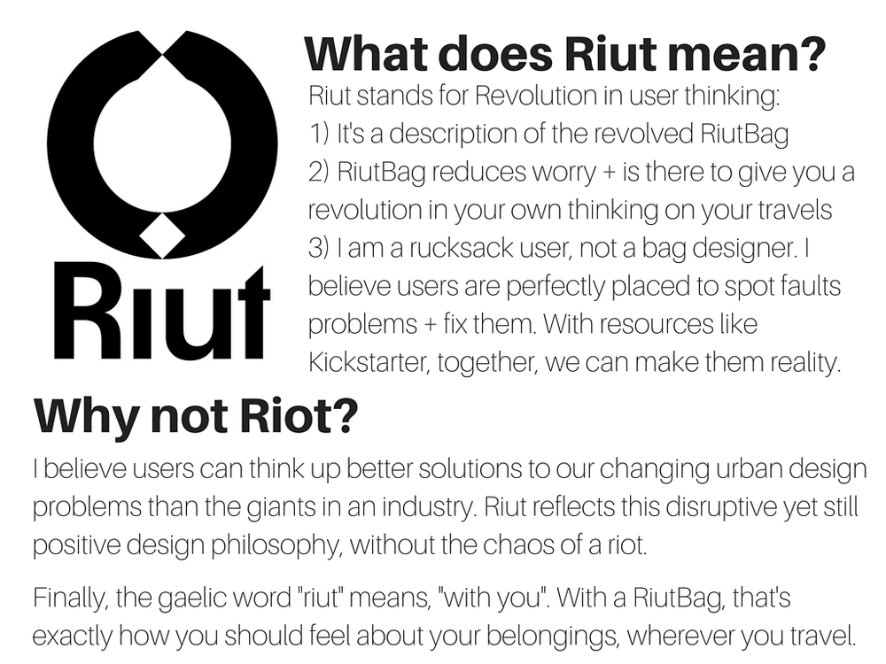 Riut logo explained RiutBag
