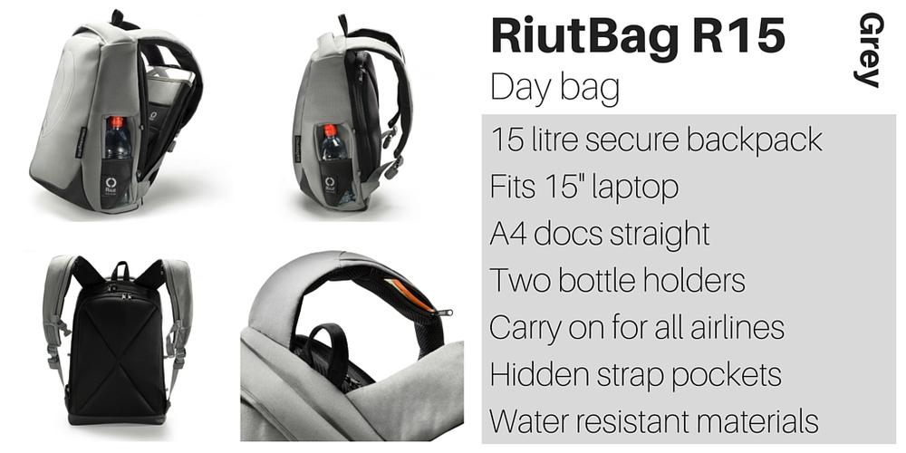 RiutBag R15 15 litre day bag grey Riut