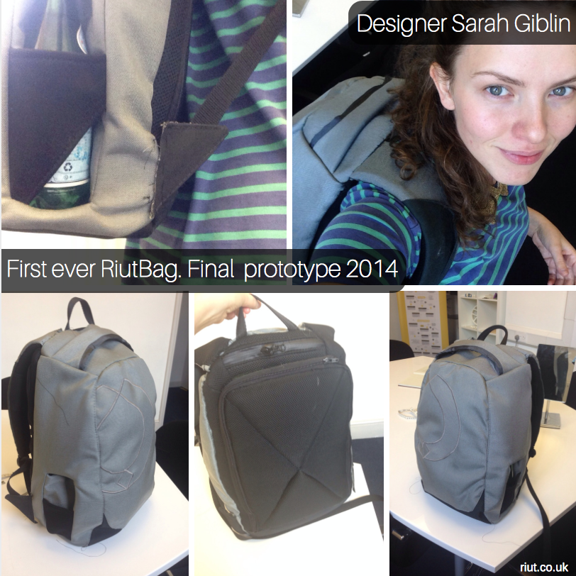 The RiutBag prototype that made everything possible. Click to see RiutBags today.