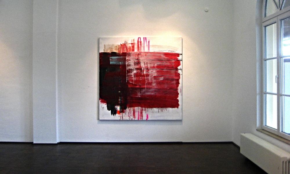 AURA WORKSHOP SOLO SHOW FORUM FÜR KUNST HERZOGENRATH 2010  UNTITLED 2010 Mixed media on canvas 200 x 200 cm