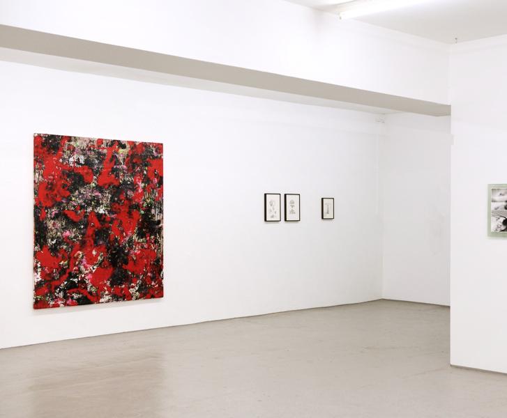 FRESHTEST VOL.3 KUNSTVEREIN KÖLNBERG Köln 2017  left: UNTITLED 2017 Mixed media on canvas 180 x 210 cm