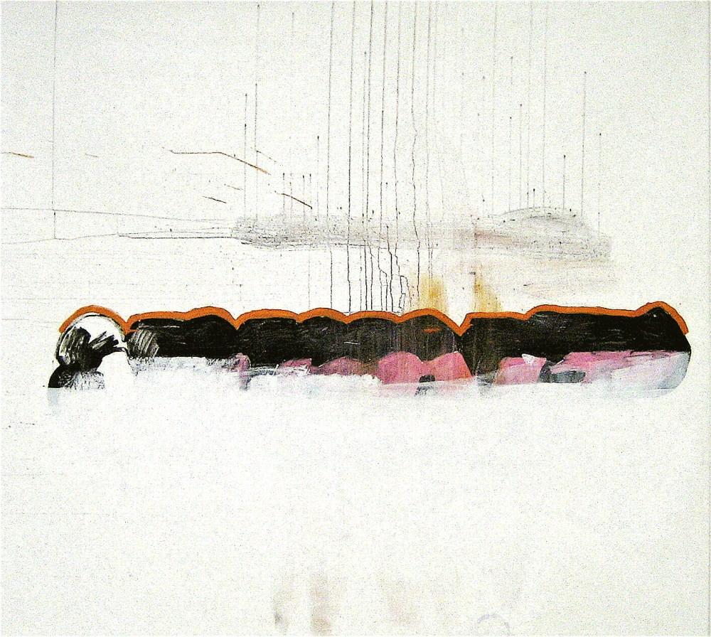 AURA WORKSHOP SOLO SHOW FORUM FÜR KUNST HERZOGENRATH 2010  UNTITLED 2010 Mixed media on canvas 190 x 210 cm