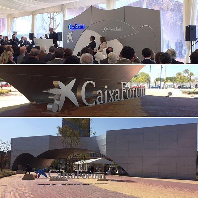 Avui hem estat a la inauguració del Caixa Forum de Sevilla #obrasociallacaixa