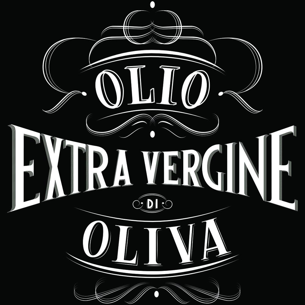 Etichetta per bottiglie di olio realizzata per Marco Marai