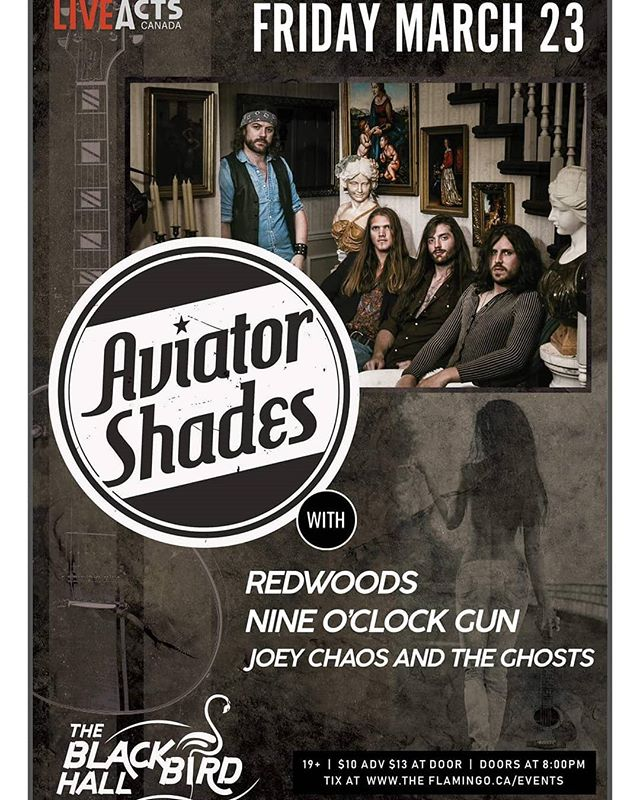 Tomorrow night in Surrey! We've got a few advance tickets left so get at us! @aviator_shades_ @redwoodsvancouver @joey_chaos . . . #livemusic #localband #localmusic #rocknroll #bluesrock #rock #riffs #junos #juno #musicbc #canada #britishcolumbia #surrey #flamingo #blackbird #vancitybuzz #vancity