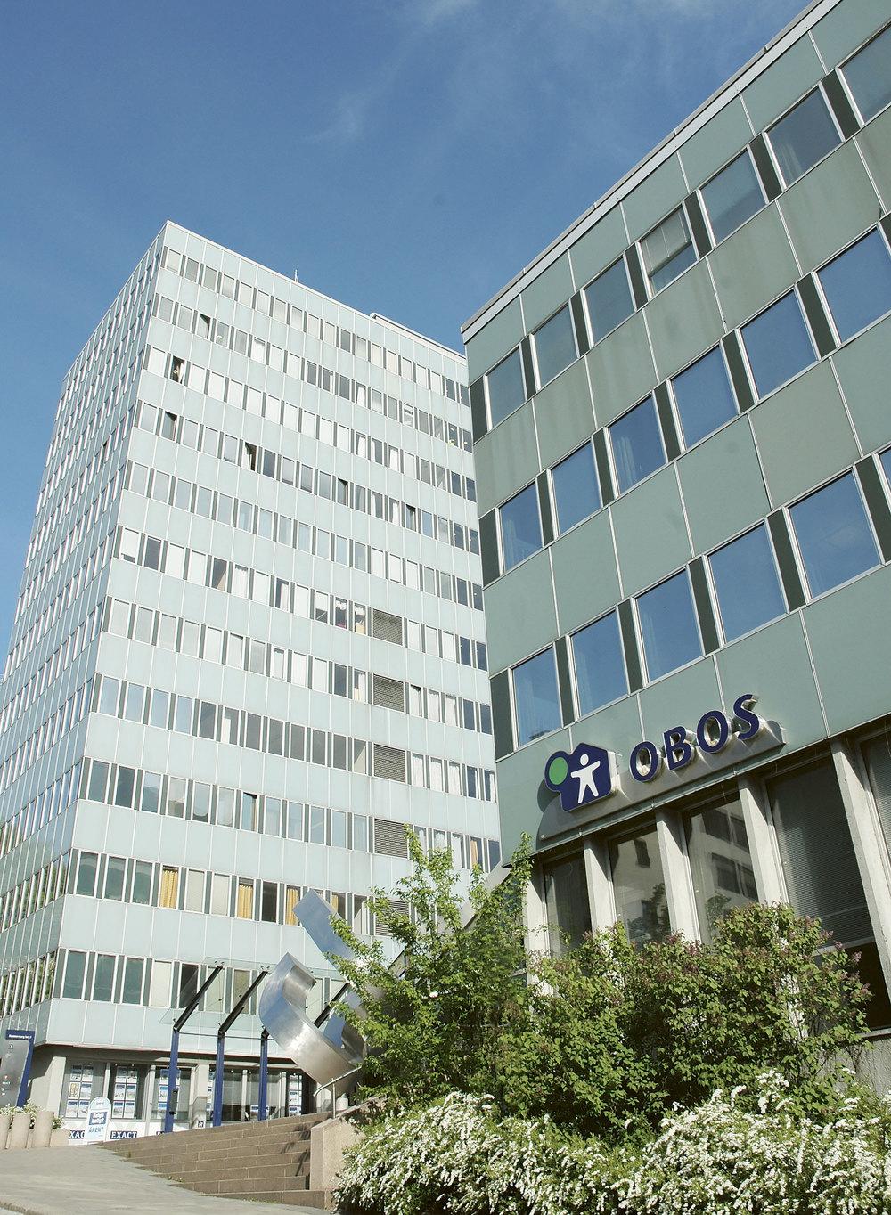 Høsten 2014 ble hovedkontoret til OBOS på Hammersborg torg i Oslo sertifisert som Miljøfyrtårn. Foto: Marie Dyrén.