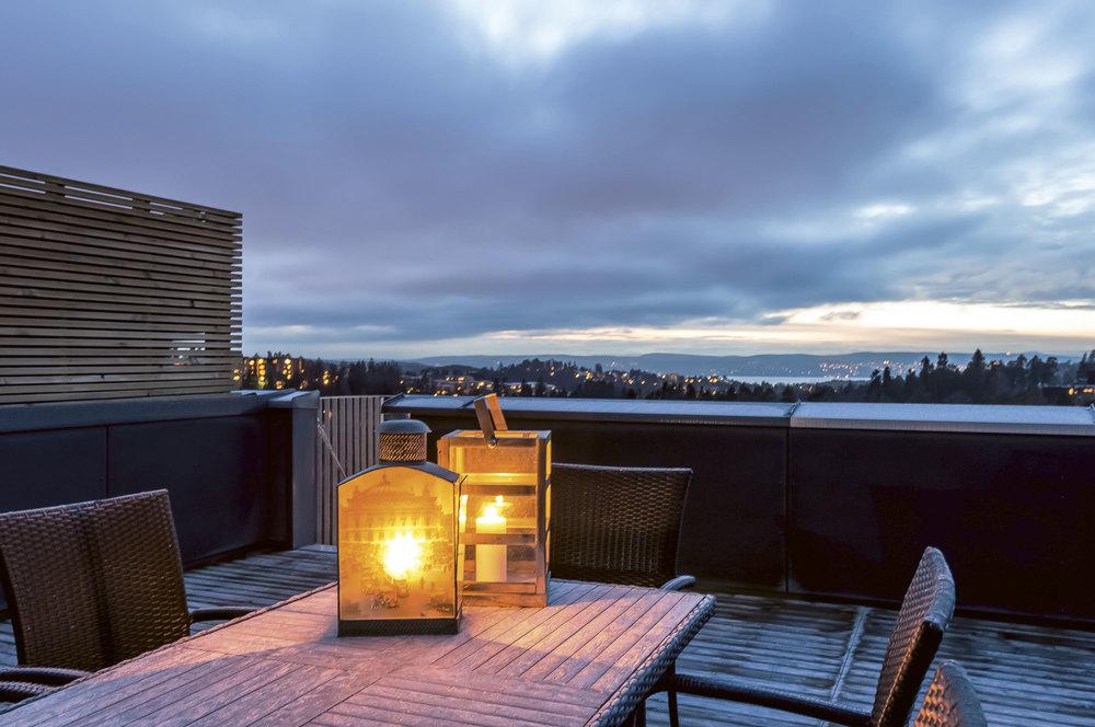 Stenbråtlia i Oslo. Boligprosjektet består av miljøvennlige passivhus.
