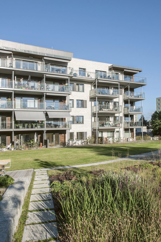 Etterstadtoppen borettslag er Oslos første boligblokk med passivhusstandard. Leilighetene vil bruke omtrent halvparten så mye energi til oppvarming sammenlignet med tradisjonelle leiligheter. Foto: Jiri Havran
