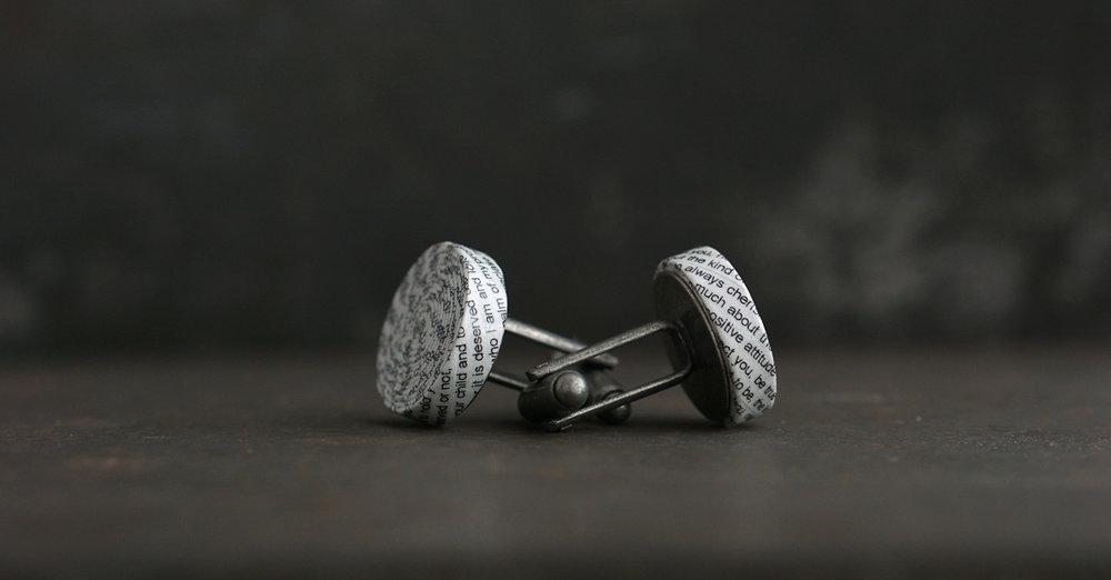 Personalised 1st Anniversary Cufflinks   www.blureco.com
