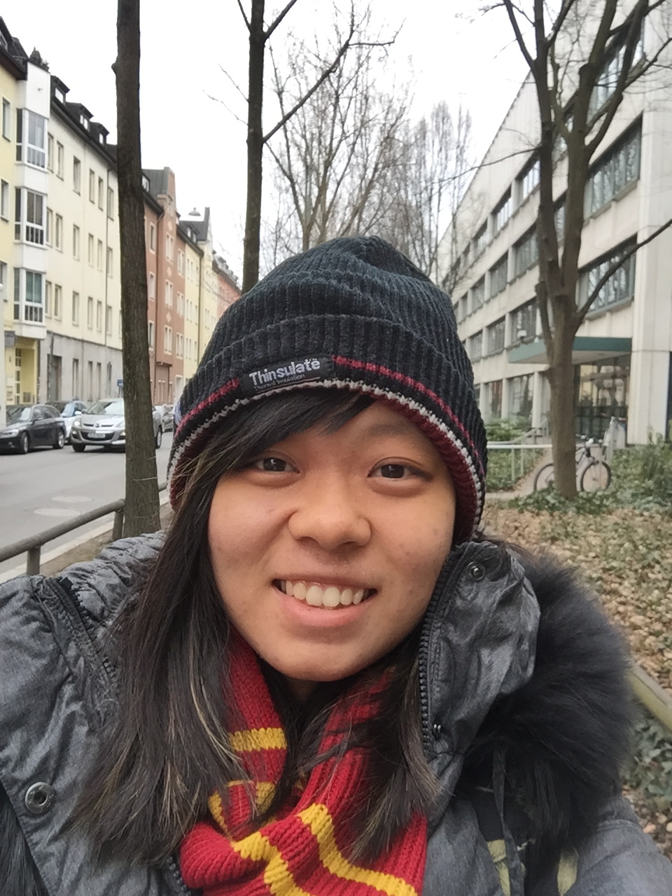 Hi from a street in Munich! It's really cold here now.