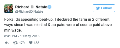 TheDi Natale response on Twitter