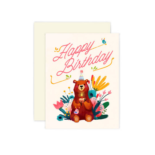 Bear Birthday Card The Little Red House