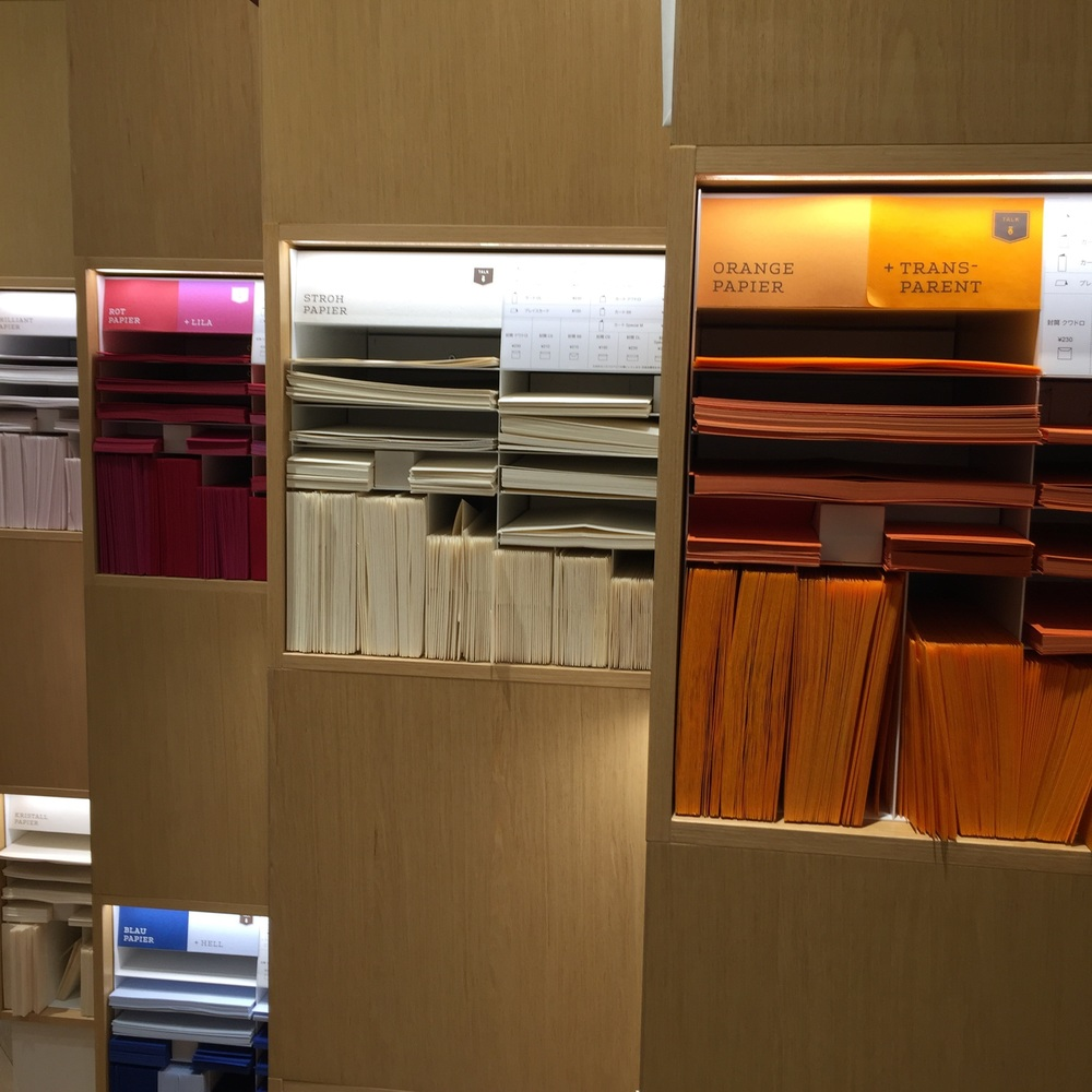 They have one whole floor for Envelopes and this is the selection of Envelopes in the same colors :> I want them all!