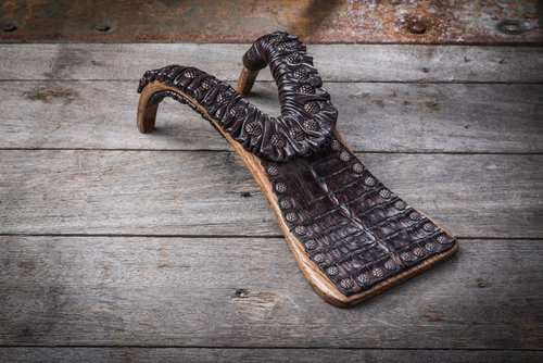 738ae24834c Outback Boot Jack With Horn Back Caiman Tail In Tobacco